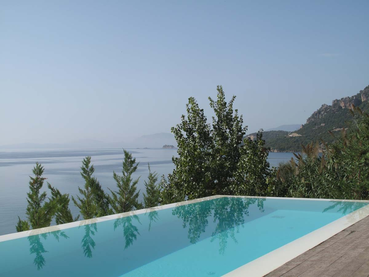 02 View out to the Ioanian Sea from the private pool 1200x900 - OIK1K4 Villa Kalamos