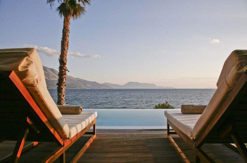 56 Infinity blue villa madouri palm tree ionian sea view 818x540 - OIK1K1 Villa Madouri