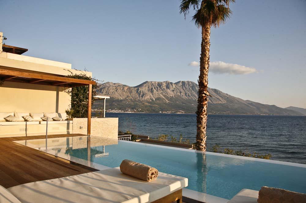 57 Infinity blue villa madouri palmtree infinity pool sea view - OIK1K1 Villa Madouri