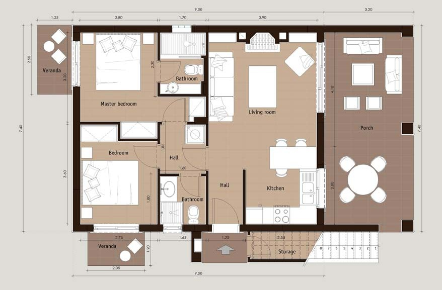 Ionian nest 2 bed - OIK9K04 Ionian Nest