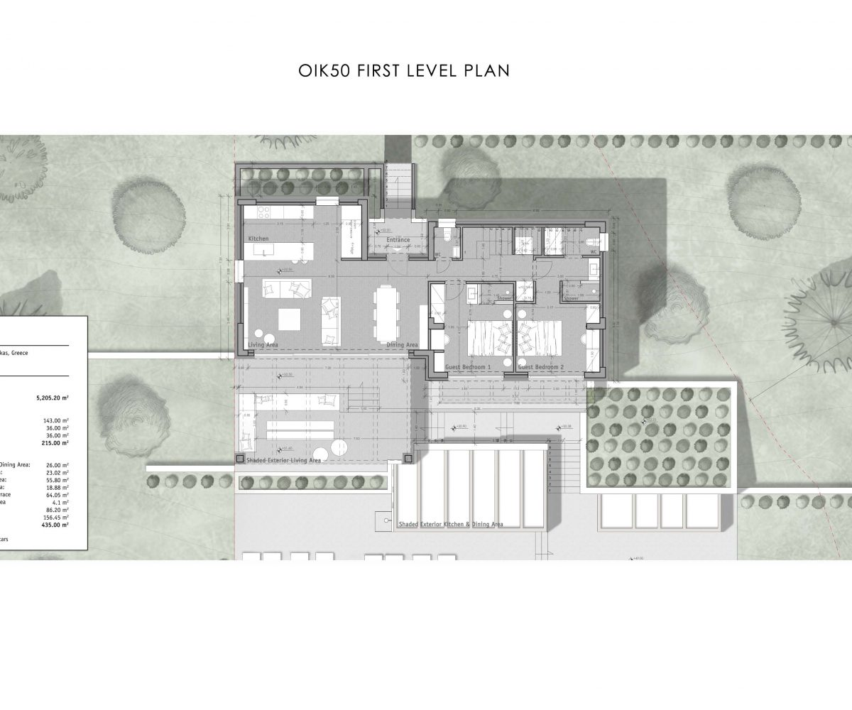 OIK50 FIRST LEVEL PLAN 1200x1000 - Villa Hestia