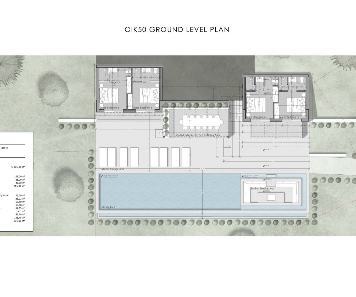 OIK50 GROUND LEVEL PLAN 1200x1000 - Villa Hestia