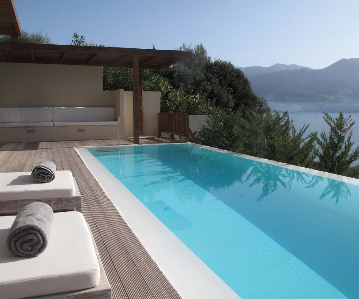 infinity blue private pool paleros 1200x1000 - OIK1K4 Villa Kalamos
