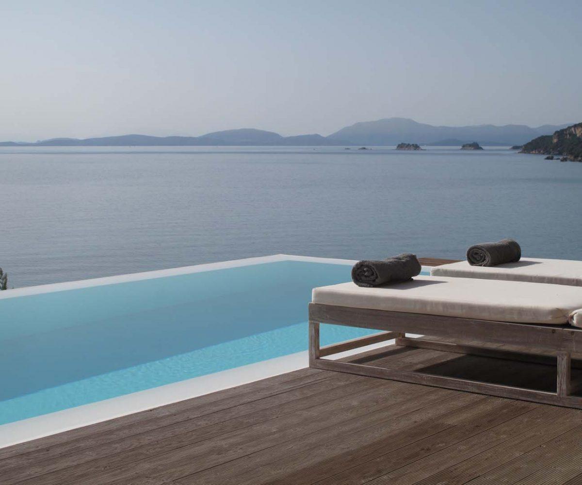 villa scorpios infinity pool view ionian sea 1200x1000 - OIK1K4 Villa Kalamos