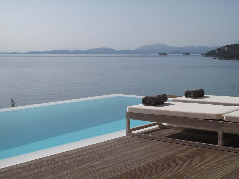 villa scorpios infinity pool view ionian sea - OIK1K3 Villa Scorpios